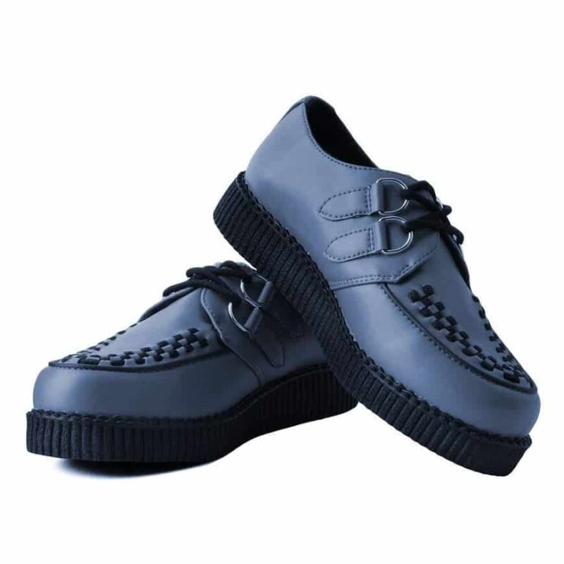 TUK Gray Vegan Low Sole Creeper F9680 1