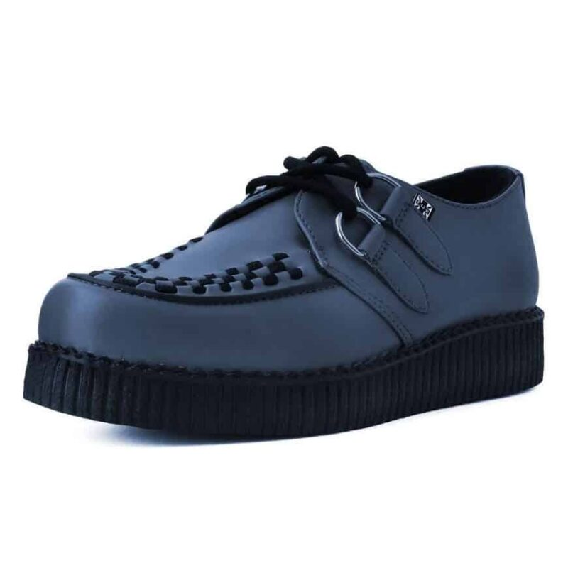 TUK Gray Vegan Low Sole Creeper F9680