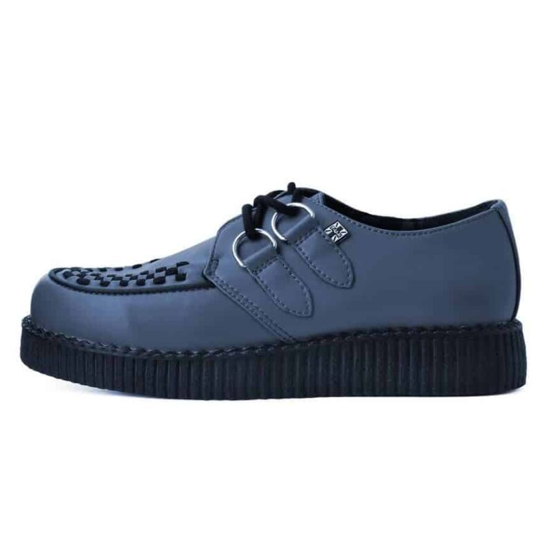 TUK Gray Vegan Low Sole Creeper F9680 2
