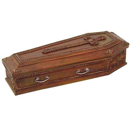 Brown Coffin Box