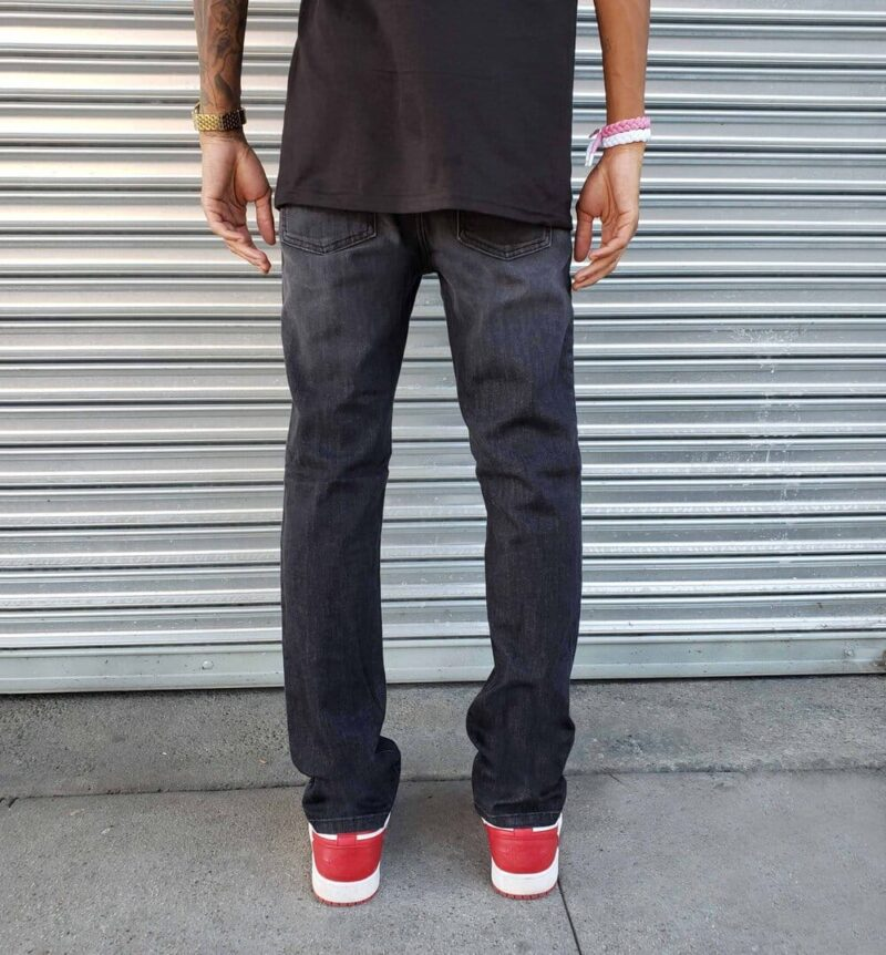 Faded Black Skinny Jeans by Neo Blue 2