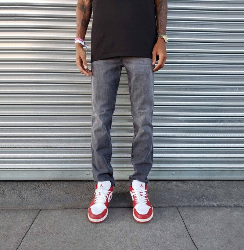 Faded Charcoal Skinny Jeans