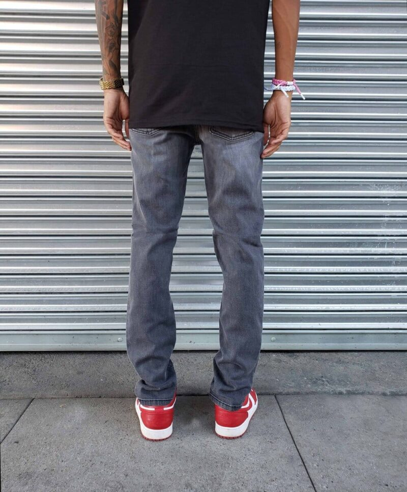 Faded Charcoal Skinny Jeans by Neo Blue 2