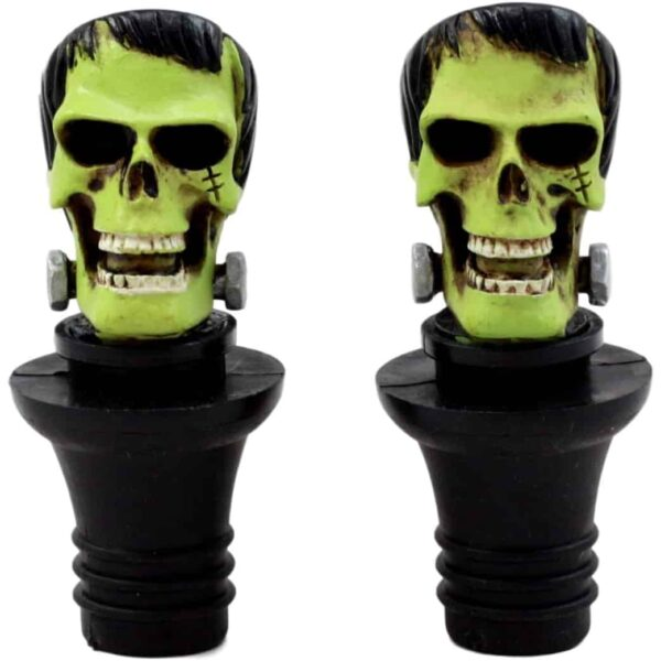 Frankenstein Skull Wine Stopper