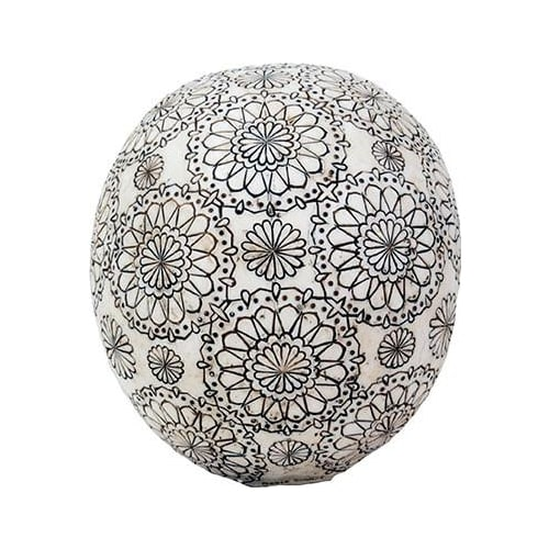 Gothic Floral Pattern Skull Head 2