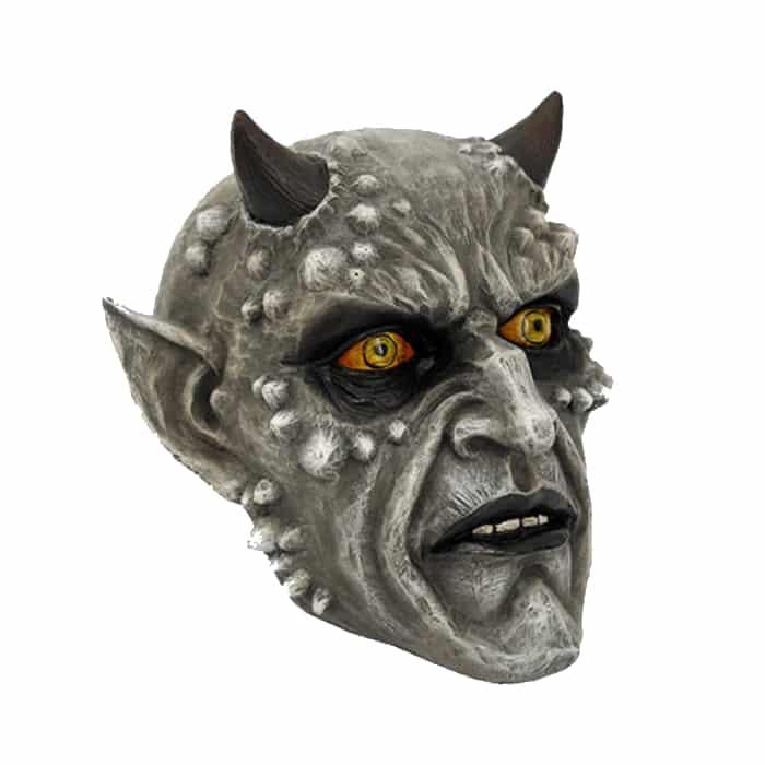 Horned Demon Skull Figurine