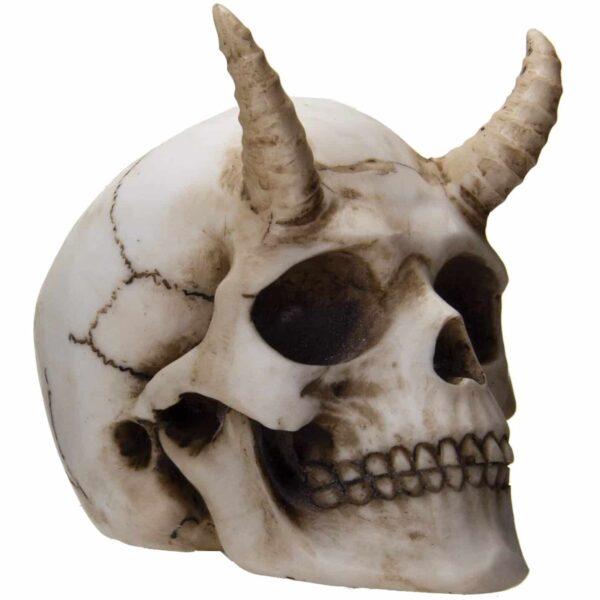 Horned Skull Figurine