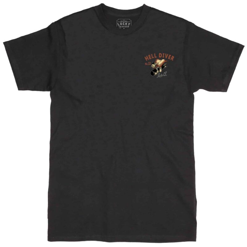 Lucky 13 Mens Hell Diver Tee 1