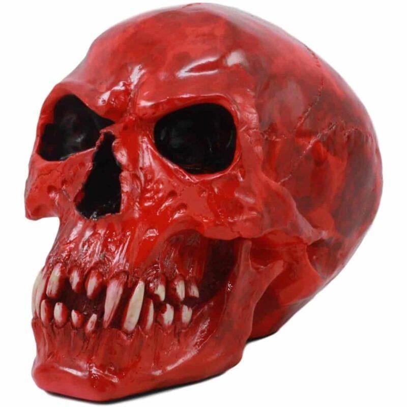 Red Vampire Skull Head