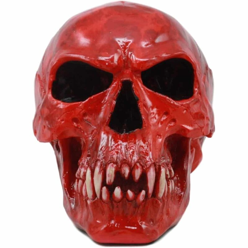 Red Vampire Skull front