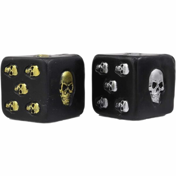 Silver and Gold Skull Dice Set