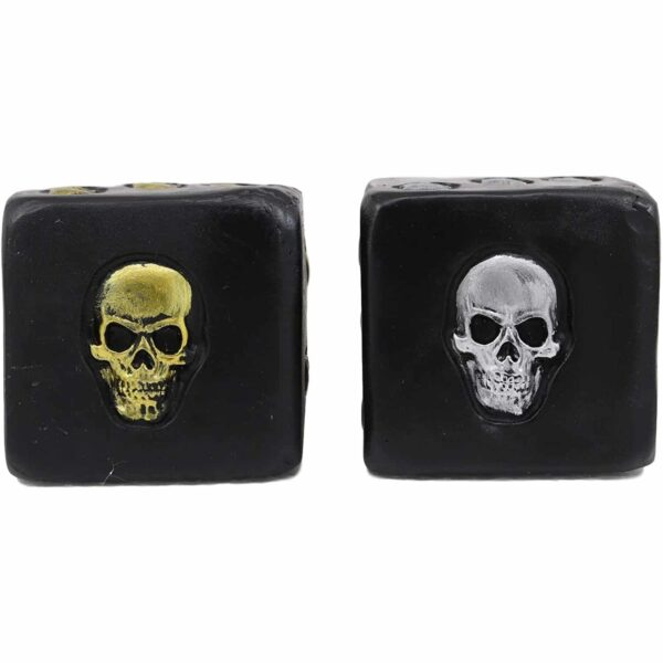 Silver and Gold Skull Dice Set s1