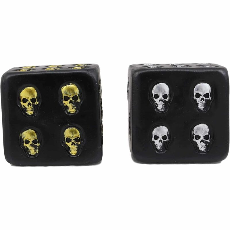 Silver and Gold Skull Dice Set s3