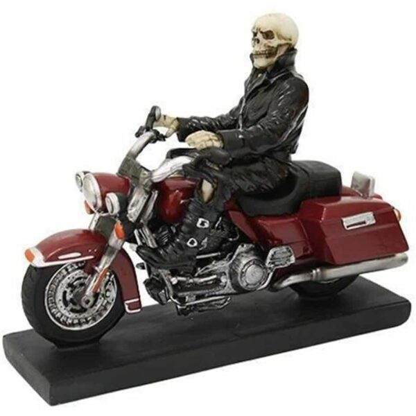 Skeleton Biker Figurine