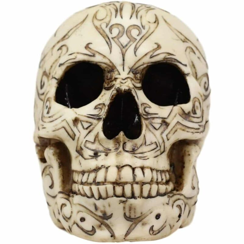 Tribal Pattern Skull Head front