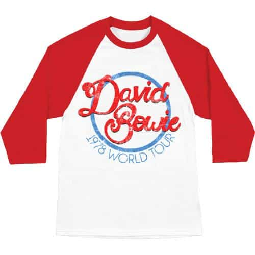 David Bowie 1978 World Tour Baseball Tee