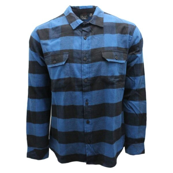 Blue and Black Checkered Flannel