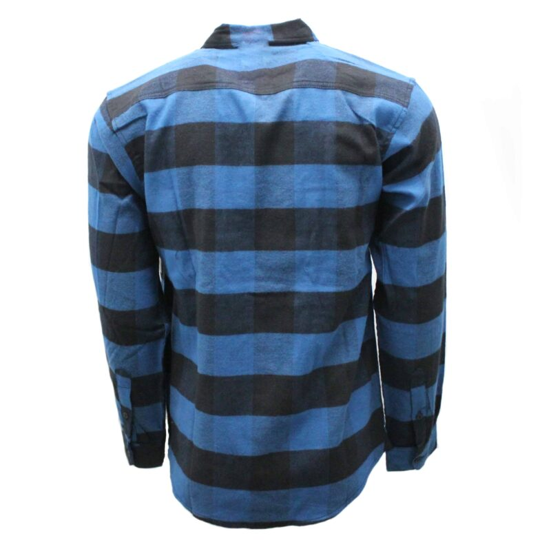 Blue and Black Checkered Flannel 1