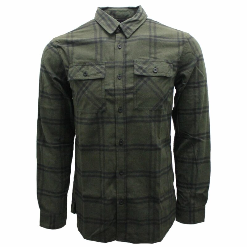Olive Green Plaid Flannel