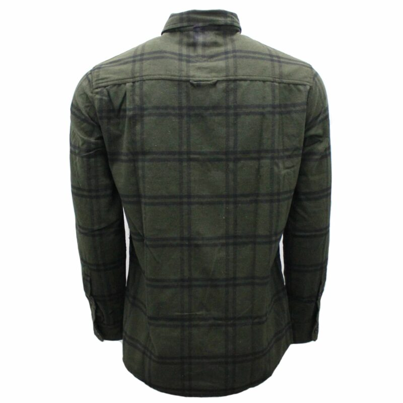 Olive Green Plaid Flannel 1