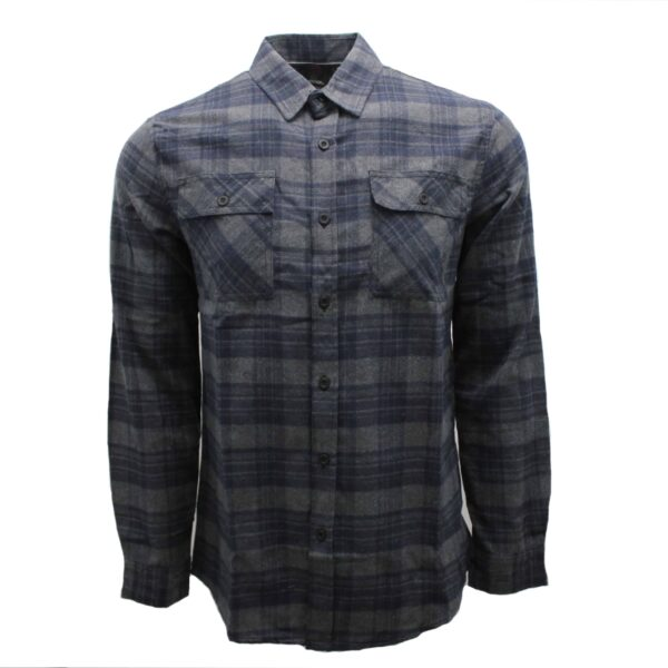 Charcoal and Navy Plaid Flannel