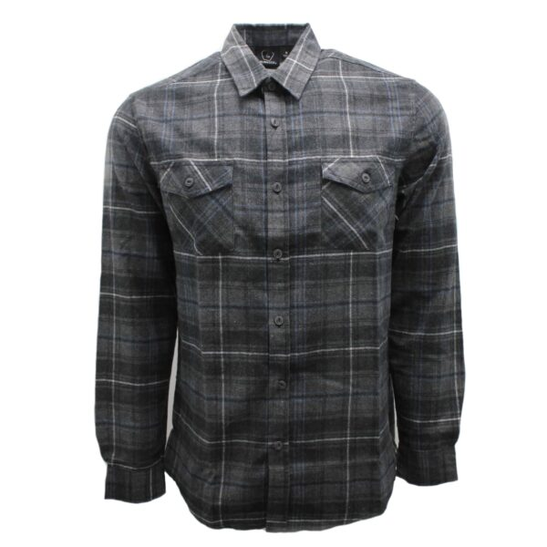 Gray and Navy Plaid Flannel