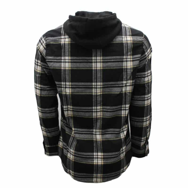 Black and White Hooded Flannel 1