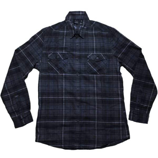 Navy and Gray Plaid Flannel