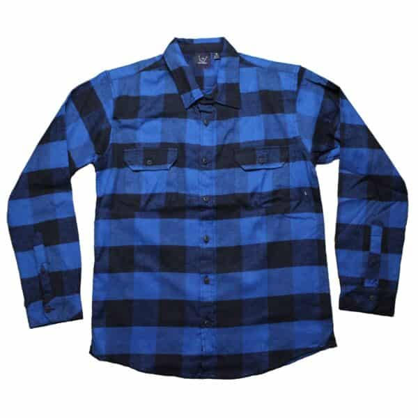 Blue and Black Plaid Flannel