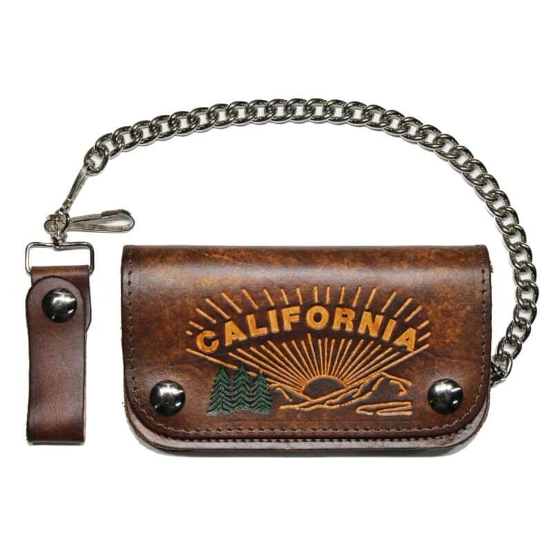 California Biker leather wallet