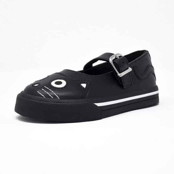 TUK Black Kitty Mary Jane Toddler Sneaker A9725