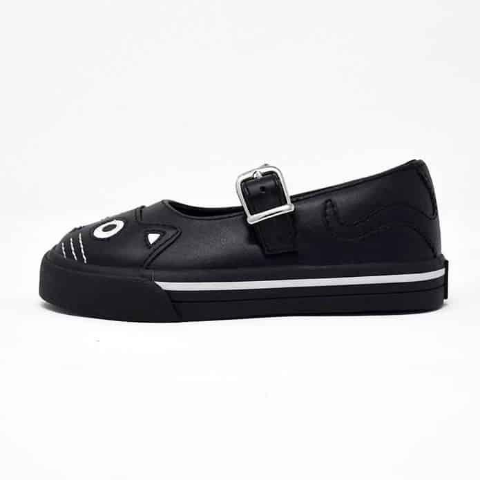 TUK Black Kitty Mary Jane Toddler Sneaker A9725 1