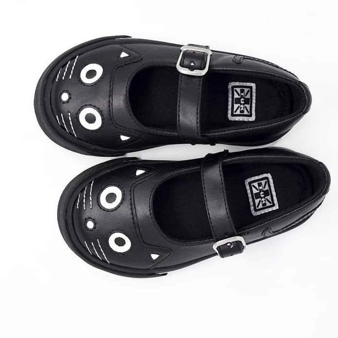 TUK Black Kitty Mary Jane Toddler Sneaker A9725 2