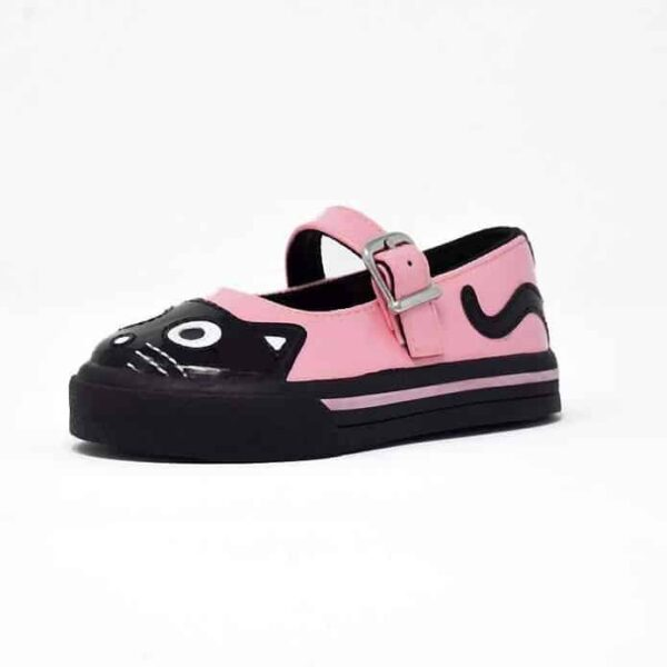 Pink Kitty Mary Jane Toddler Sneaker
