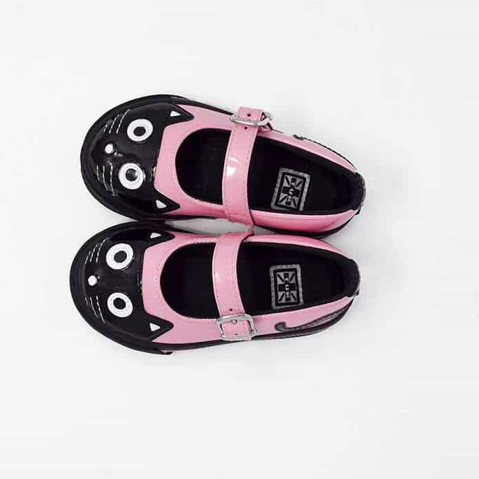 TUK Pink Kitty Mary Jane Toddler Sneaker A9726 2