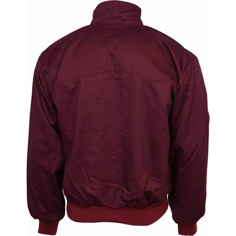 Burgundy Harrington Jacket by Relco London 2