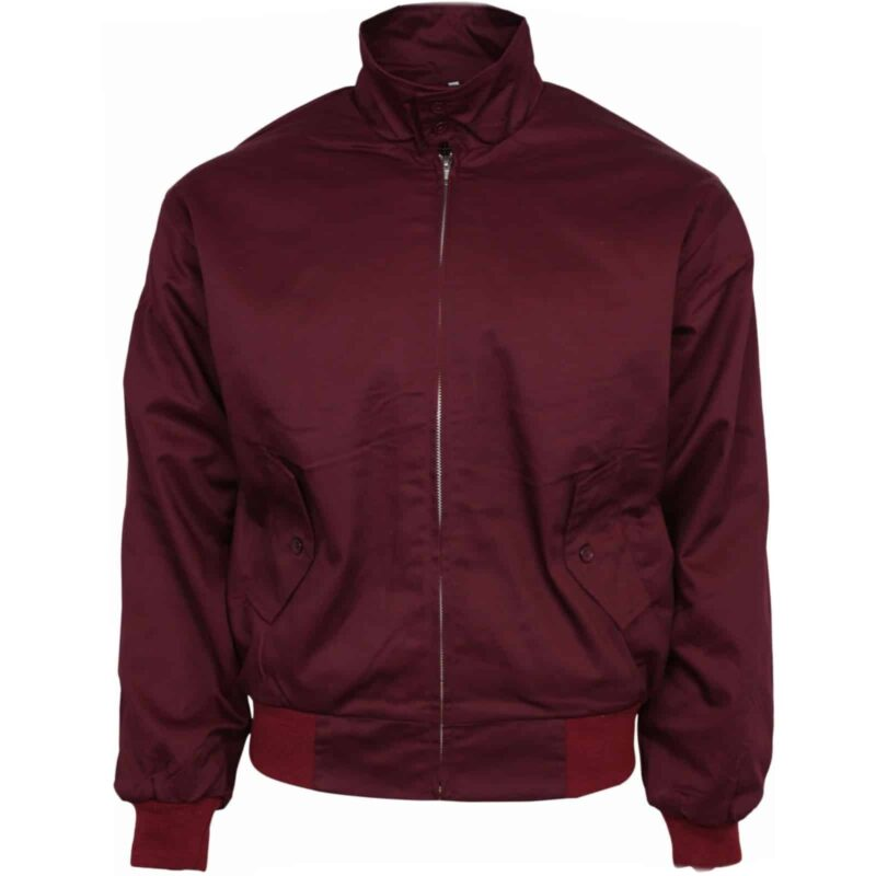 Burgundy Harrington Jacket by Relco London 1