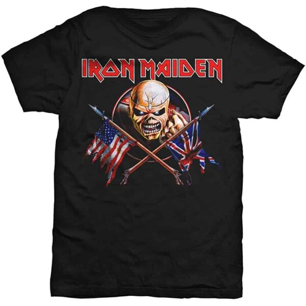 Iron Maiden Trooper Flags T-Shirt