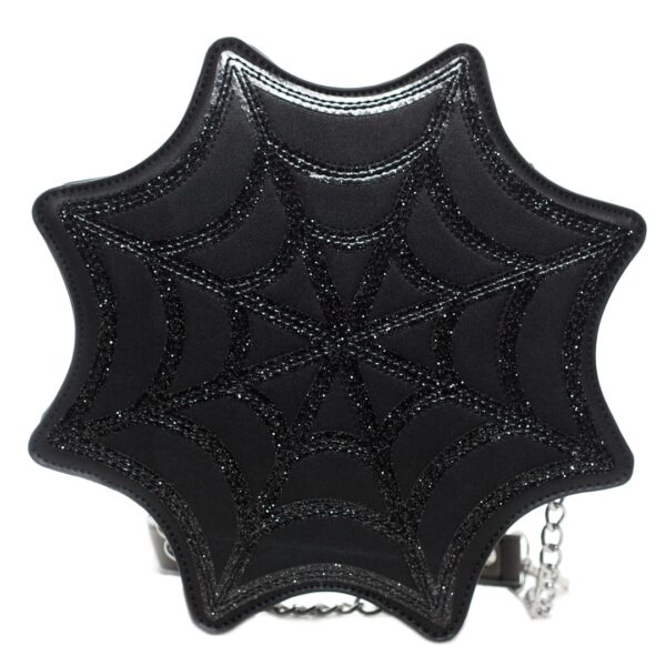 Black Spiderweb Sparkle Purse