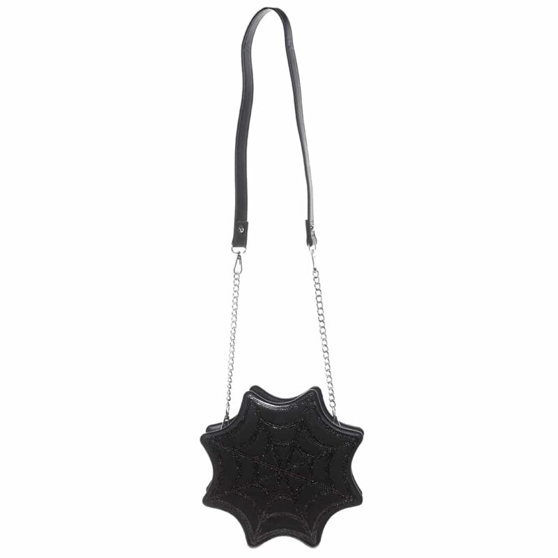 Black Spiderweb Sparkle Purse by Sourpuss Clothing 1