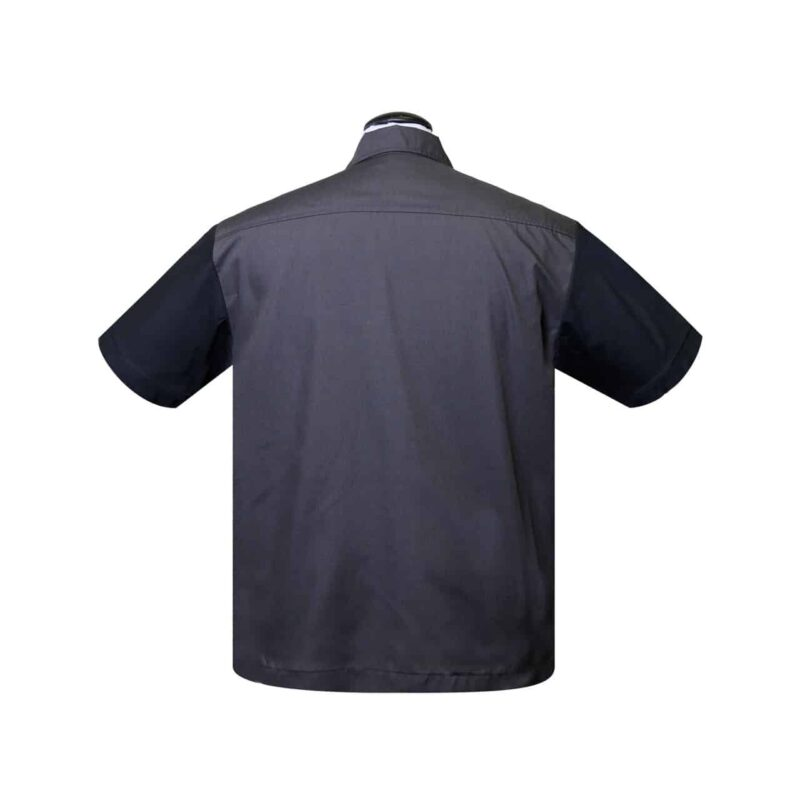 Black and Charcoal Bowling Shirt by Steady Clothing 1