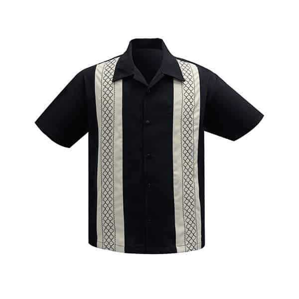 Black and Stone Bowling Shirt Steady Clothing