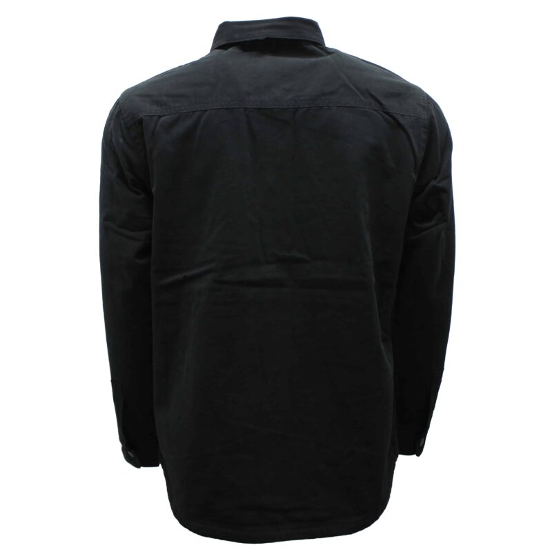 Black Flannel Lined Cotton Shirt 1