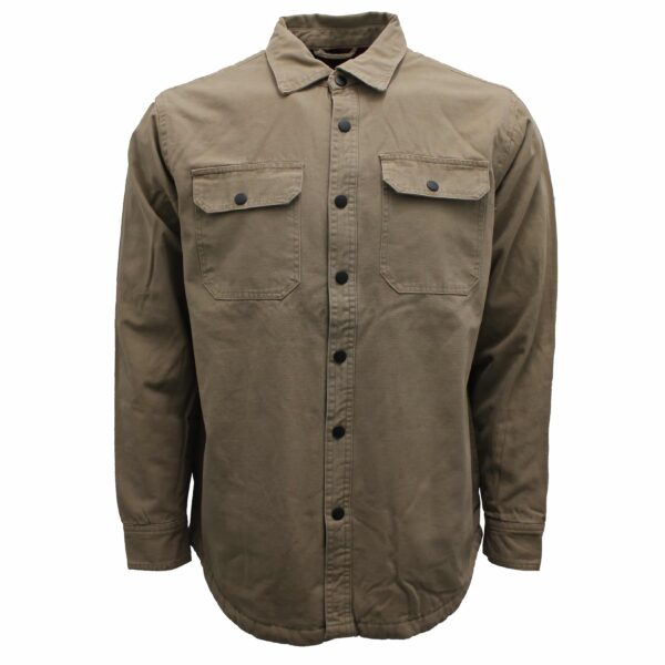 Khaki Flannel Lined Cotton Shirt