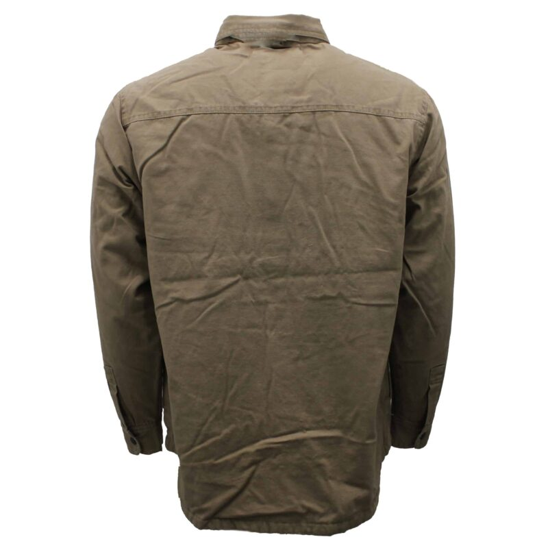 Khaki Flannel Lined Cotton Shirt 1