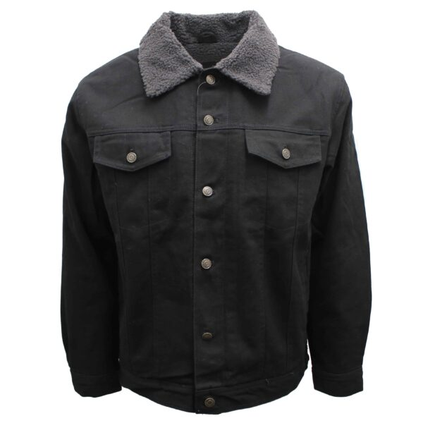 Sherpa Lined Black Denim Jacket