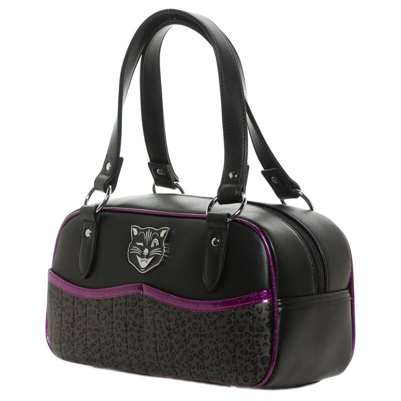 Purple Jinx Tessa Purse w/Leopard by Sourpuss Clothing 1