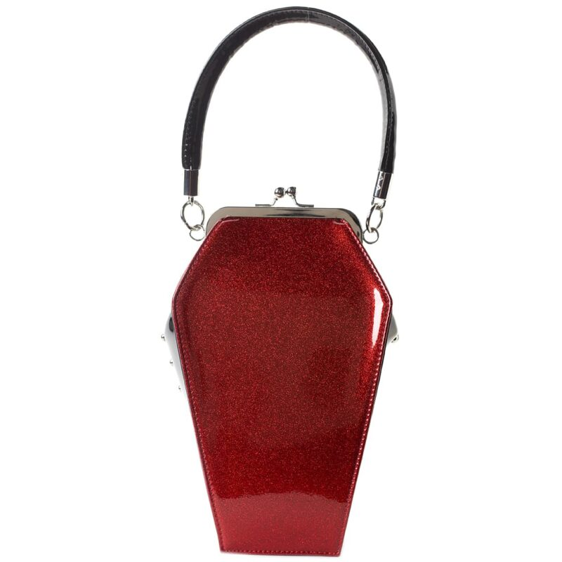 Red Spiderweb Coffin Purse by Sourpuss Clothing 2