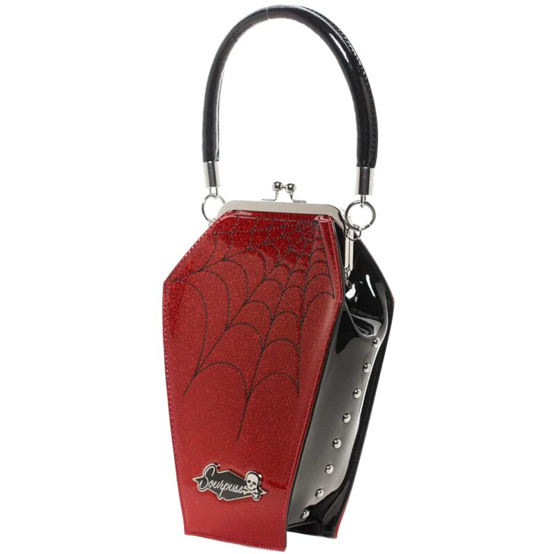 Red Spiderweb Coffin Purse by Sourpuss Clothing 1