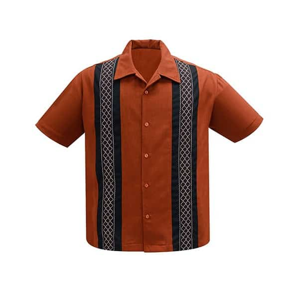 Rust and Black Bowling Shirt